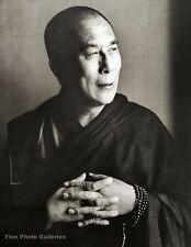 1987 Vintage DALAI LAMA Spiritual Buddhist By HERB RITTS Tibet Photo Art 16x20