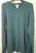 LL L.L.Bean Men's Blue Crewneck Sweater XL 100% Cotton Long Sleeve Free Shipping