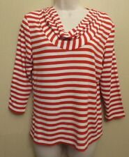 Phase Eight UK12 EU40 US8 red/white striped stretch cowl neck 3/4 sleeve top
