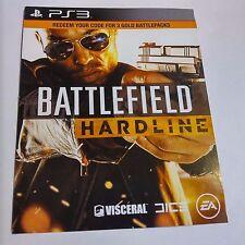 Battlefield Hardline 3 GOLD BATTLEPACKS DLC CARD (PlayStation 3) #2093