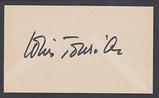 Louis Jourdan, French film and television actor, signed 3½x5½ card, JSA Cert.