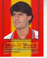 FOOTBALL carte panini joueur JOSE LUIS PEREZ CAMINERO équipe ATLETICO MADRID