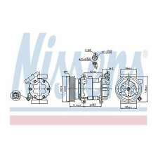 Fits Nissan Juke F15 1.5 dCi Genuine OE Quality Nissens A/C Air Con Compressor