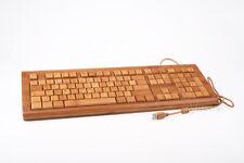 Bambou Clavier bambootech PC Windows Mac Linux, rechargeables bois Keyboard Câble