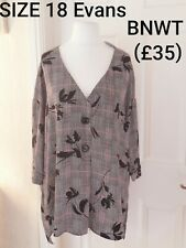 SIZE 18 - 20 EVANS LONG TOP BLOUSE NEW WITH TAGS £35 reduced now sale