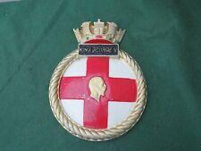 WW 2 ROYAL NAVY HMS KING GEORGE V CAST ALUMINIUM SHIPS PLAQUE