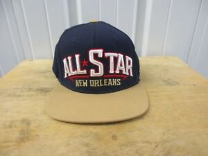 VINTAGE ADIDAS NEW ORLEANS NBA ALL-STAR 2014 GAME NAVY SNAPBACK SEWN HAT/CAP NWT