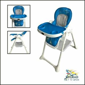 Portable 3 In 1 Baby Toddler Infant Reclining High Chair Feeding Tray Table Blue