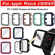 PC Funda Carcasa & Templado Protector de pantalla Para Apple Watch 5 4 3 2 1