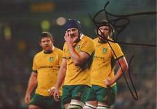 Australia RUGBY: Dean MUMM firmata 6x4 FOTO D'AZIONE + COA * Wallabies *