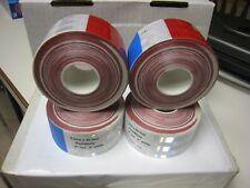 """4   WHITE RED Reflective   Conspicuity Tape 2""""x 50 ' DOT-C2"""