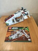 Lego Star Wars 75021 REPUBLIC GUNSHIP  Unboxed, Manual included