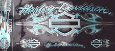 Genuina Harley Davidson Salvaje Racha Azul Glitter Decal Sticker DC154896