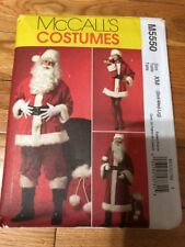 McCalls 5550 Christmas Santa Claus Coat Costume Bag Pattern Sz XM S Med Lrg
