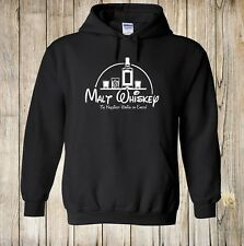 Malt Whiskey Hoodie / Funny Cartoon Style Alcohol Drinking Game Party Shot