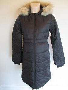 GAP MATERNITY BLACK HOODED QUILTED PARKA COAT JACKET SIZE S 10-12 NEW