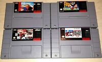 Super SNES Lot of 4 NFL College Football Games Madden quarterback club Walsh
