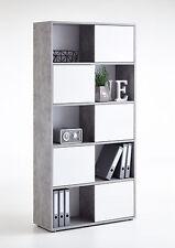 FMD Regal Futura 2 Up Light Atelier Hochglanz Weiß Bücherregal Büroregal Schrank