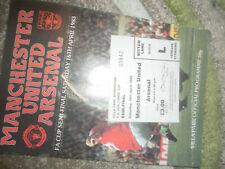 1983 FA CUP SEMI FINAL MANCHESTER UNITED V ARSENAL + MATCH TICKET