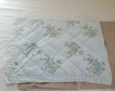Simply Shabby Chic Watercolor Floral Quilted Standard Pillow Sham Blue Rose