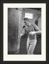 Steve McQueen Boxing mounted framed print -  4 frame choices - 3 sizes