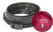 Black Label Bag Leather Wide Strap in Black for Canon, Leica, and Nikon Cameras