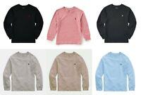 Ralph Lauren Polo Boys Black Grey V Neck Long Sleeve T shirt Top 3 4 5 6 8 10 12