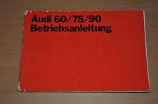 BA Bedienungsanleitung Betriebsanleitung AUDI 60 75 90 NSU Auto Union AG 1970