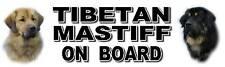 TIBETAN MASTIFF ON BOARD Dog Car Sticker By Starprint
