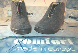 INTERMAX Slippers Zip Felt Wool Warm 36-42 Push Slippers