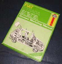 1979-1987 FIAT STRADA ALL MODELS HAYNES WORKSHOP MANUAL 479