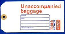 British Airways Cargo Unaccompanied Baggage Tag