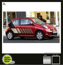 Nissan Micra Stickers CUSTOM Car Whole Body Styling Decal Vinyl Red Silver *A