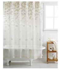 Martha Stewart Collection Falling Petals Beige/Ivory Shower Curtain