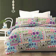 Peillion Lightly Quilted Duvet Doona Quilt Cover Set Phase 2 | Easy-Care | Queen