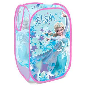 Disney Elsa Girls Bedroom Pop Up Folding Car Organizer Toys Storage Basket S93