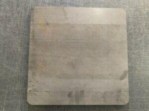 """3/8"""" Steel Pizza Baking Plate, 3/8"""" x 15"""" x 15"""", A36 Steel"""