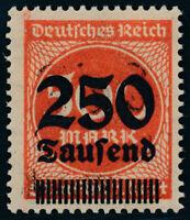 DR 1923, MiNr. 296 DD, tadellos postfrisch, gepr. Infla-Berlin, Mi. 100,-