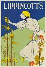 AP84 Vintage 1895 Lippincott's Magazine May Advertisement Poster Card Print A5