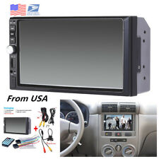 "2Din 7"" Touch Screen FM Bluetooth Radio Audio Stereo Car Video MP5 Player+Camera"