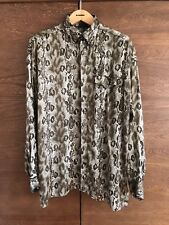 Gianni versace Versus vintage Silk camiseta Camisa Snake Print Jungle caos Couture