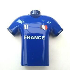 France Football T-Shirt Design Pencil Sharpener Double Hole Shave Bin Kids Toys
