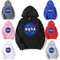 Mens NASA Retro Hoodie Pullover Tops Sweater Unisex Sweatshirt Unisex Newest