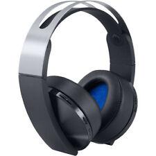 NEW SONY PLAYSTATION 4 PLATINUM WIRELESS HEADSET BLACK & SILVER GAMING HEADPHONE
