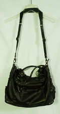OiOi Australia Dark Brown Slouch Tote Baby Diaper Bag with Padded Changing Mat