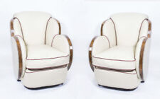 Leather Art Deco Living Room Sofas, Armchairs & Suites