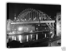 Newcastle Tyne Bridge at Night Canvas Art Print