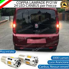 COPPIA LAMPADE PY21W CANBUS 24 LED FIAT DOBLO' FRECCE POSTERIORI NO ERROR