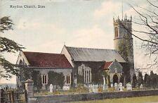 Diss Norfolk Roydon Church Postcard 1906 Double Circle Cancellation Eye Suffolk