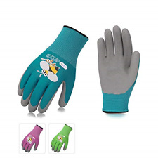 Vgo Foam Rubber Coated Gardening And Work Gloves For Kids 3 Pairs Colors Size